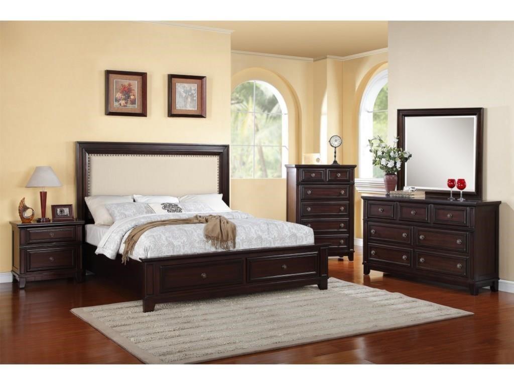Elements International Hartly4-Piece Queen Bedroom
