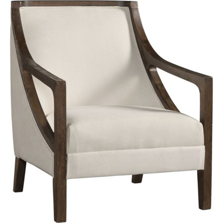 Accent Chair with Brown Frame