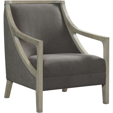 Accent Chair with White Wash Frame
