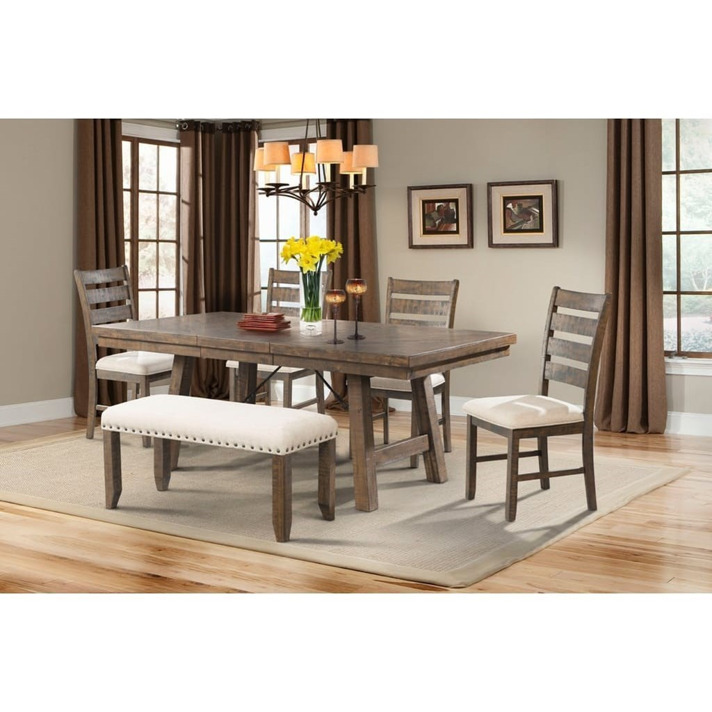 elements jax rustic dining set with xback chairs zaku0027s fine furniture table u0026 chair set with bench