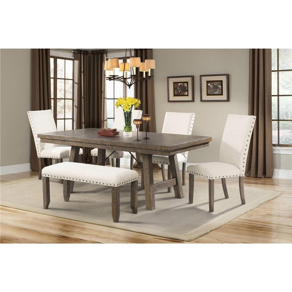 elements jax rustic dining set with bench household furniture table u0026 chair set with bench - Rustic Dining Set