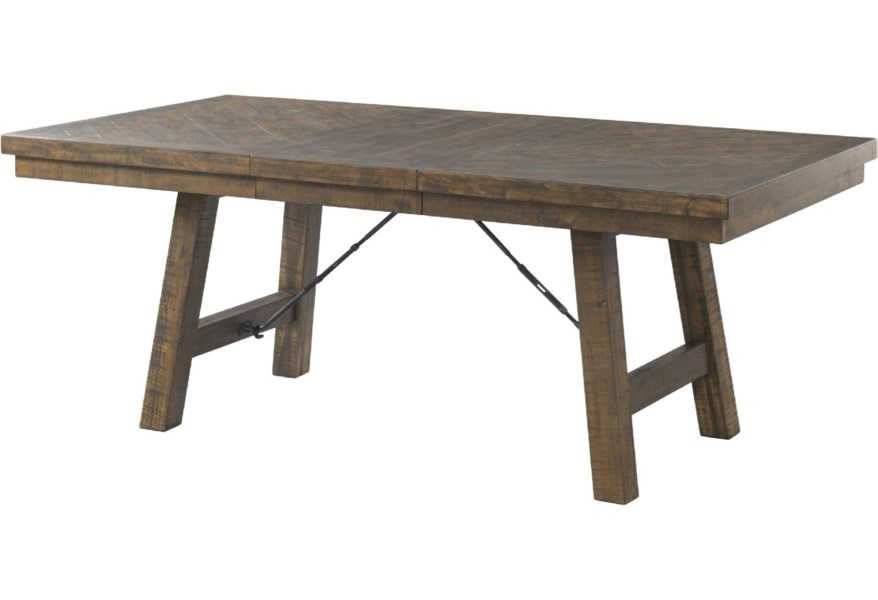 Jax Rustic Dining Table with 18-Inch Leaf by Elements International at  Zak\'s Home