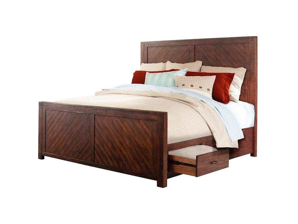 Elements International JaxKing Storage Bed