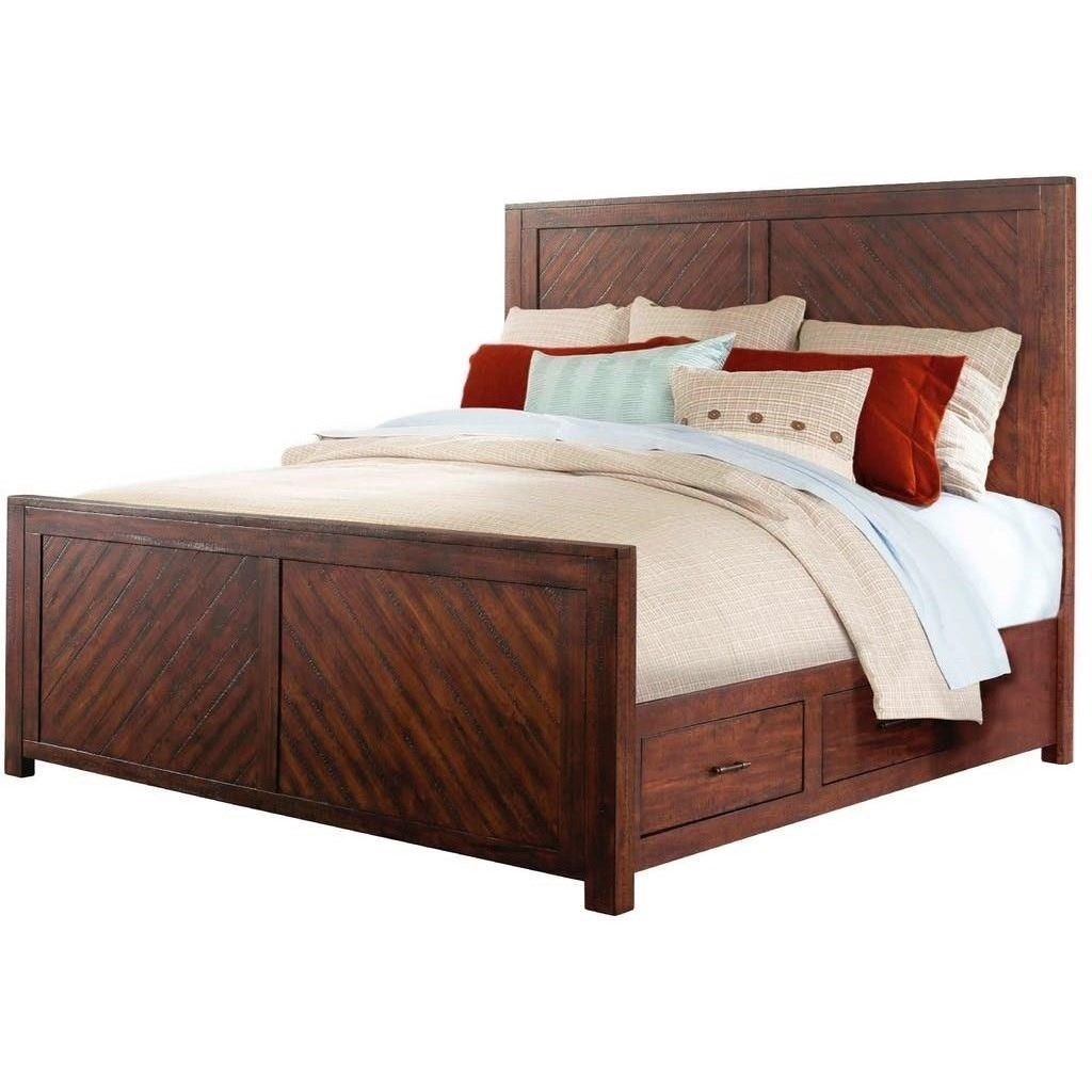 Elements International Jax Rustic Queen Storage Bed