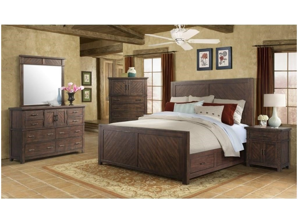 Elements International JaxQueen Storage Bed