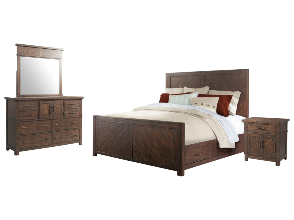 Jax 4-Piece Queen Bedroom Set by Elements at Royal Furniture