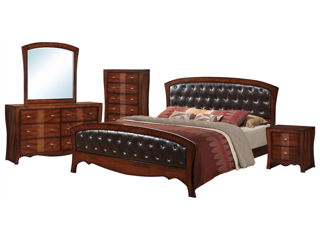 Jenny 5-Piece King Bedroom Set by Elements International at Household  Furniture