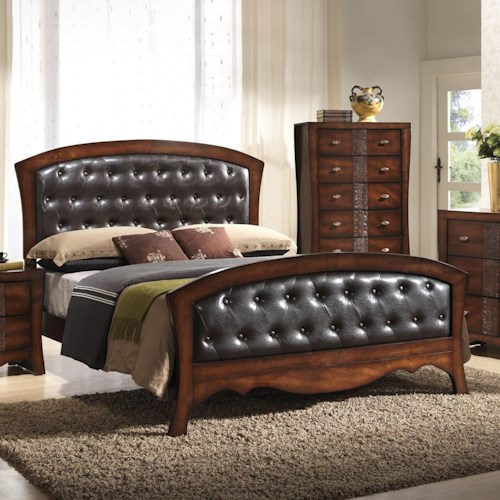 Jenny Queen Panel Bed With Upholstered Headboard And Footboard Dream Home Furniture