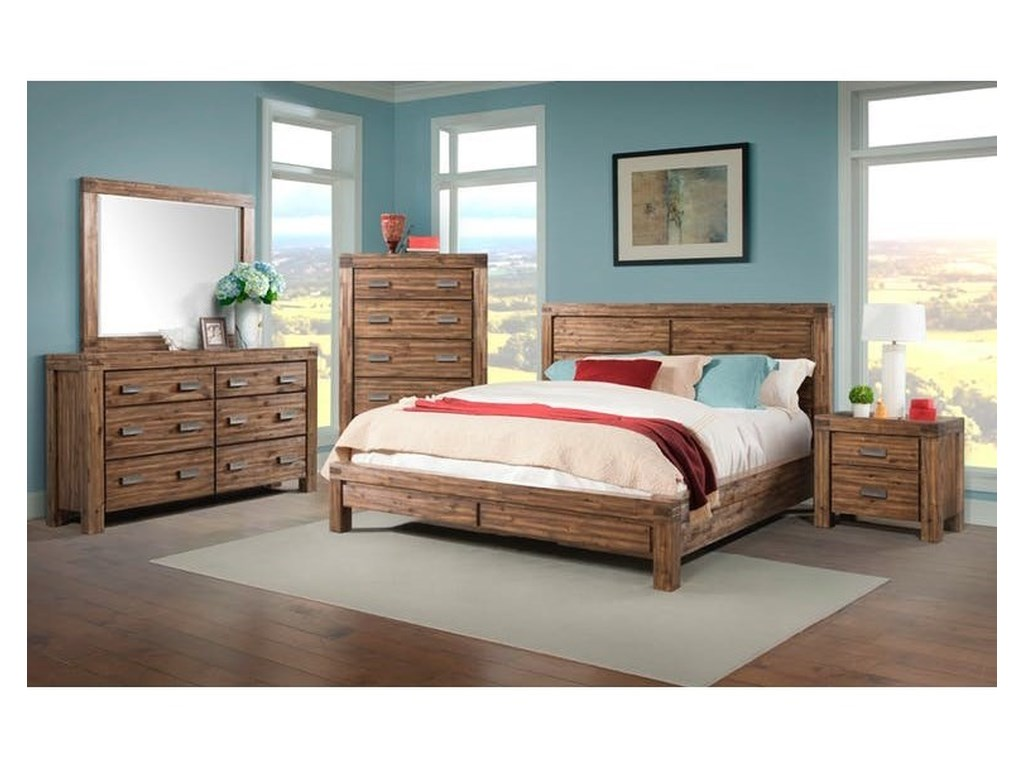 Elements International JoplinKing Bedroom Group