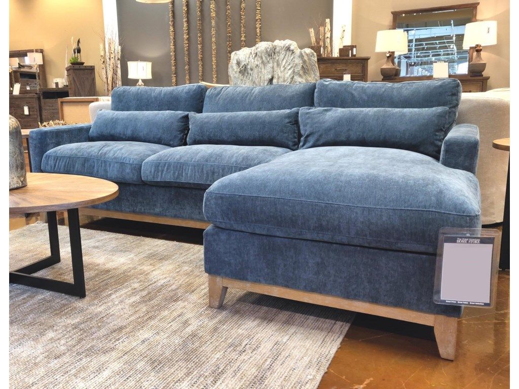 Elements International JupiterNavy Chaise Sectional