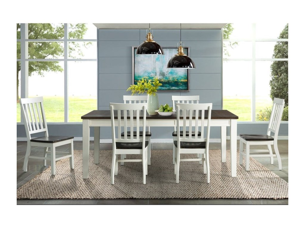 Elements International Kayla7-Piece Dining Table and Chair Set