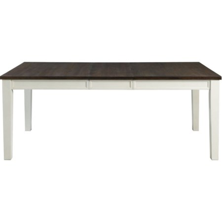 Two-Tone Rectangular Dining Table