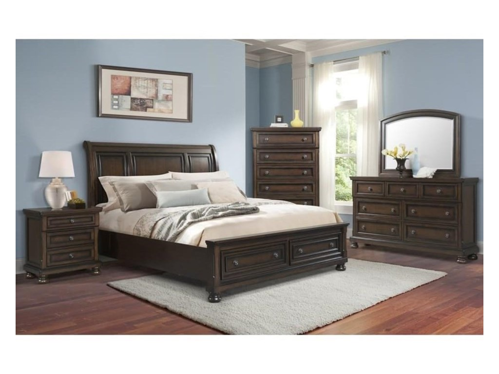 Elements International KingstonQueen Bed