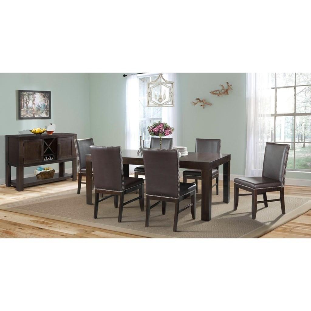 Lovely Furniture Lansing #28 - Elements International LansingTable And Chair Set ...