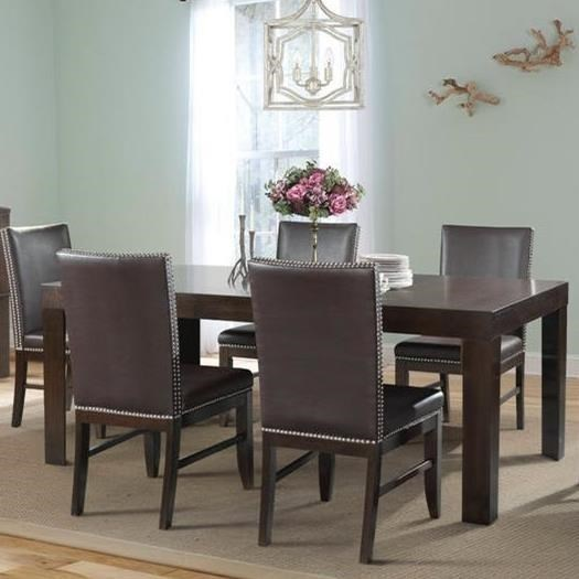 Elements International Lansing Rectangular Dining Table With Leaf
