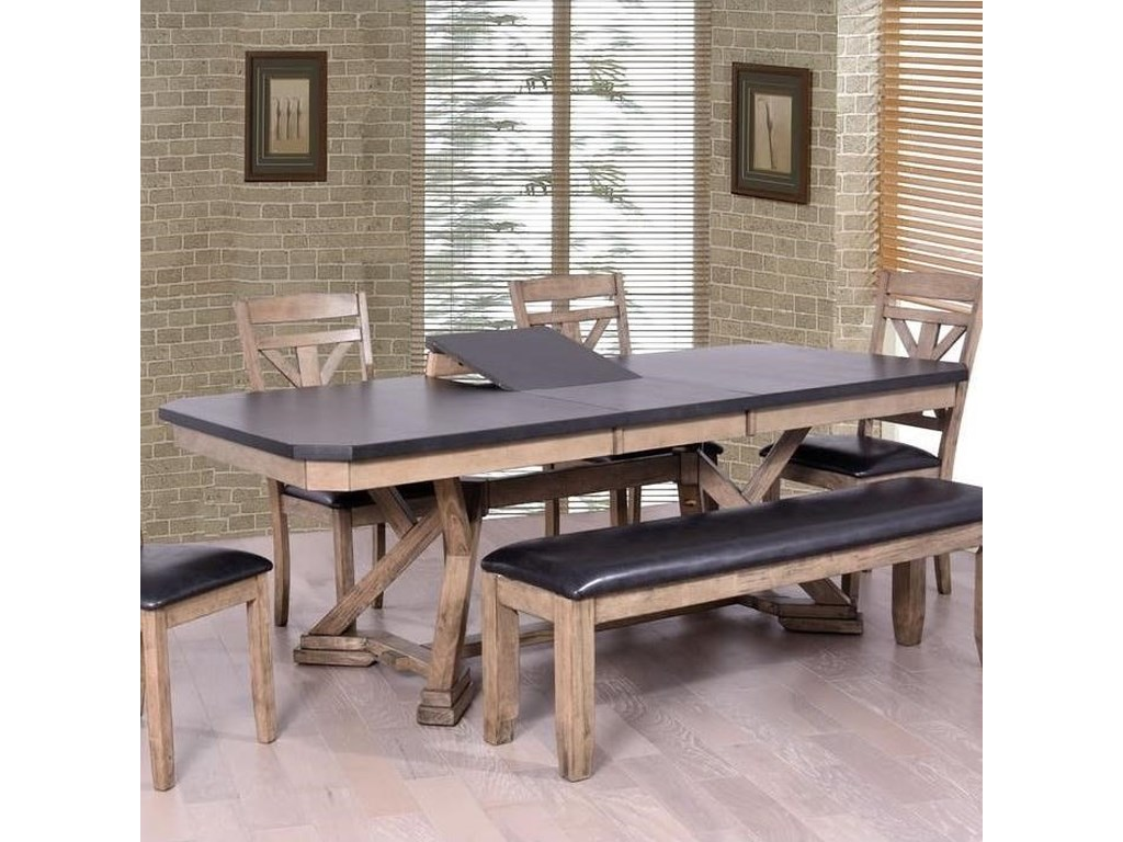 cc59b00b76d1d Laramie Two-Tone Dining Table with Cut Corners by Elements International