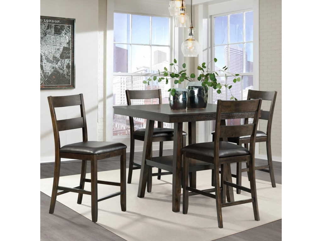 Elements Laredo Rustic 9 Piece Counter Height Dining Set with ...