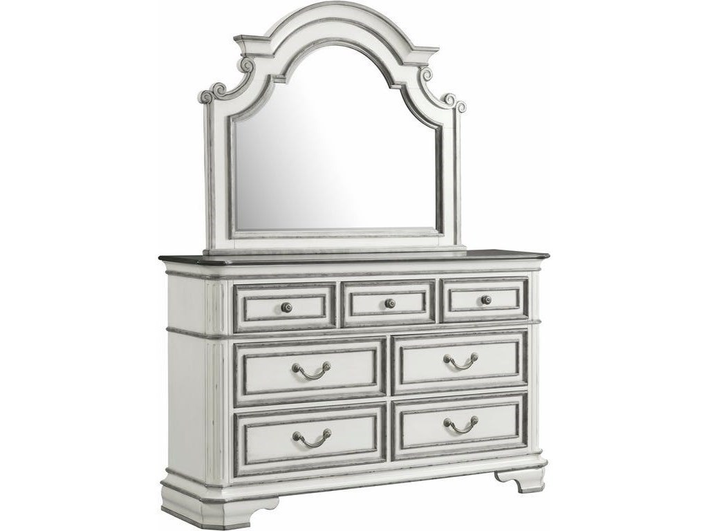 Elements International Leighton ManorDresser and Mirror Set
