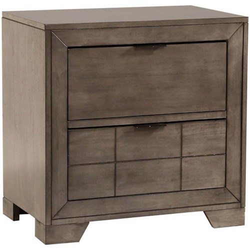 Elements International Logic Contemporary 2-Drawer Nightstand