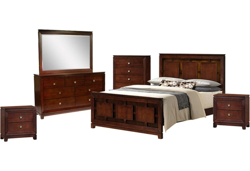Elements International London 6-Piece King Bedroom Set ...