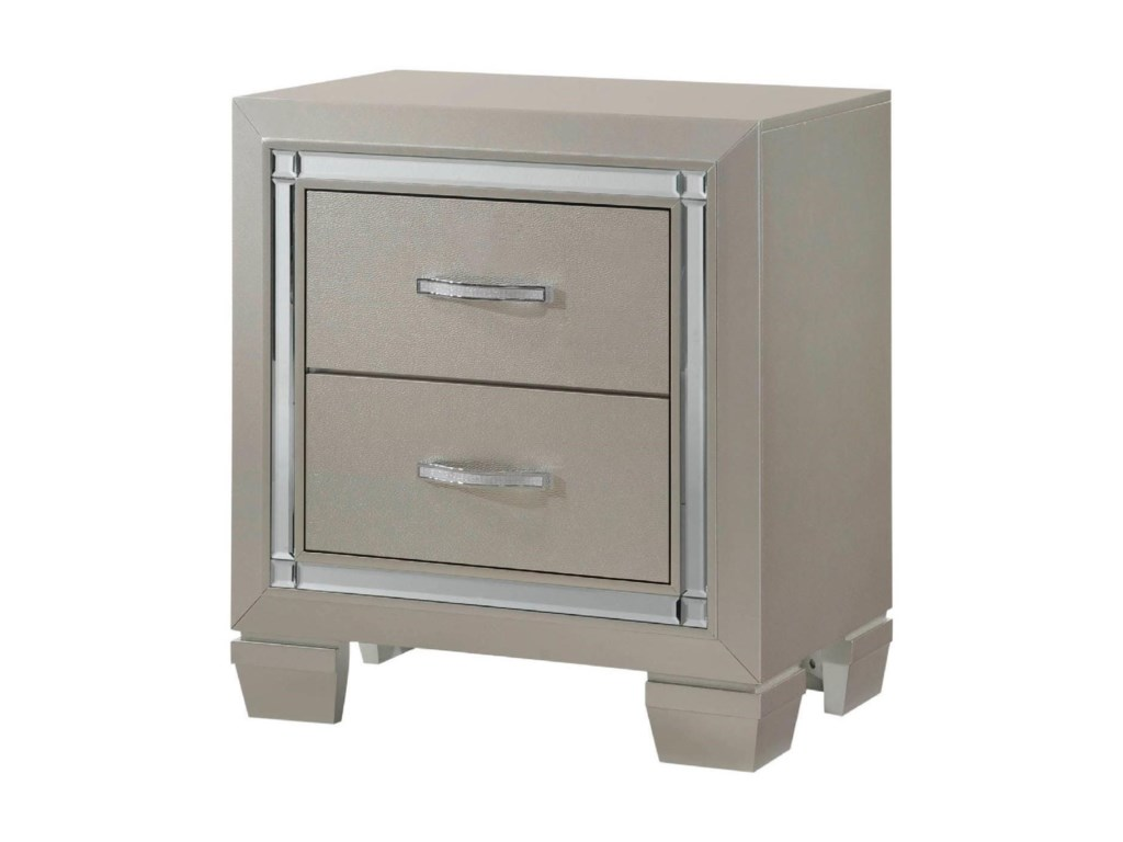 Elements International Platinum YouthSmall Scale Nightstand