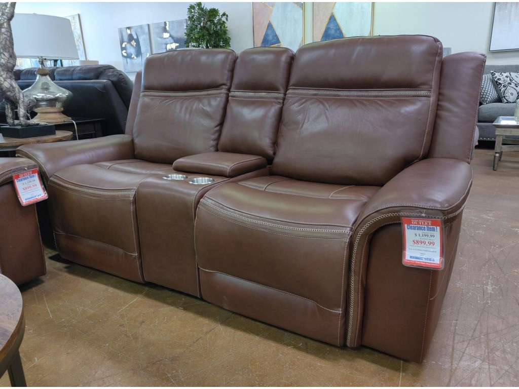 Elements International MaderaLeather Reclining Loveseat