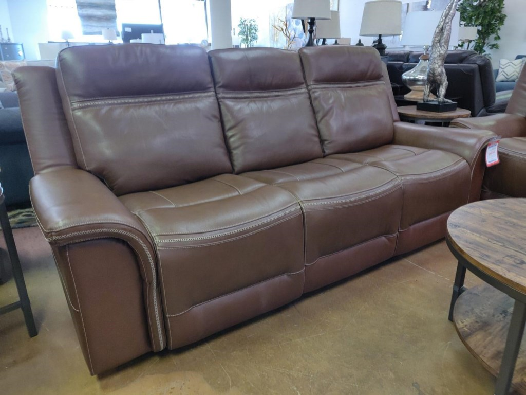 Elements International MaderaLeather Reclining Sofa