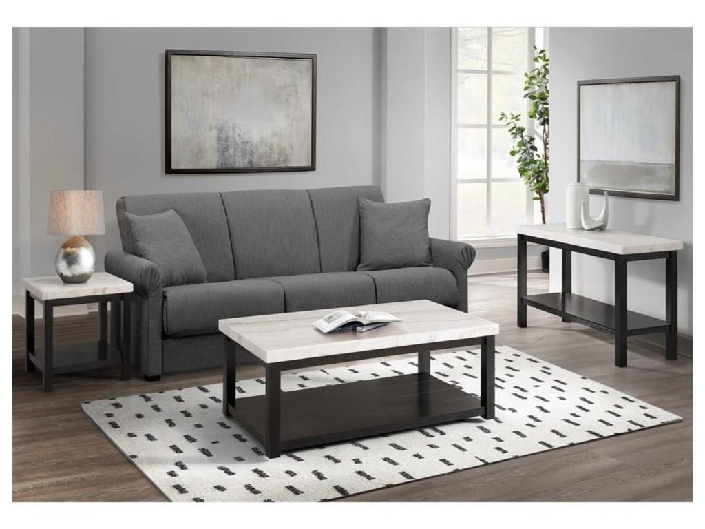 Elements International MarcelloCocktail Table and 2 End Tables Set