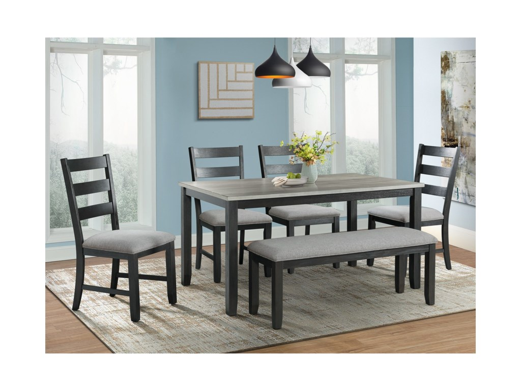 Martin Dining Table Set with Bench