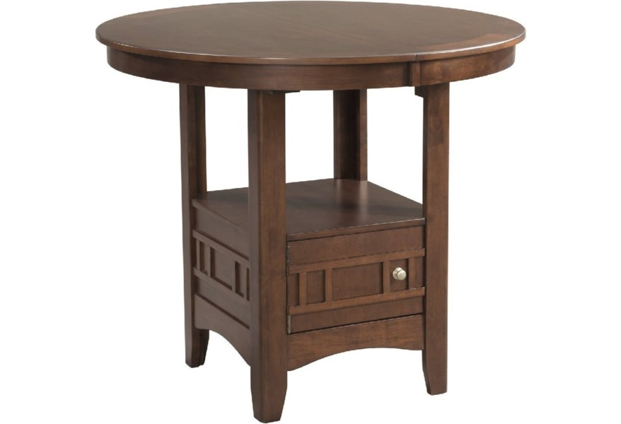 Elements International Max Counter Height Pub Table With Storage And Leaf Lindy S Furniture Company Pub Tables