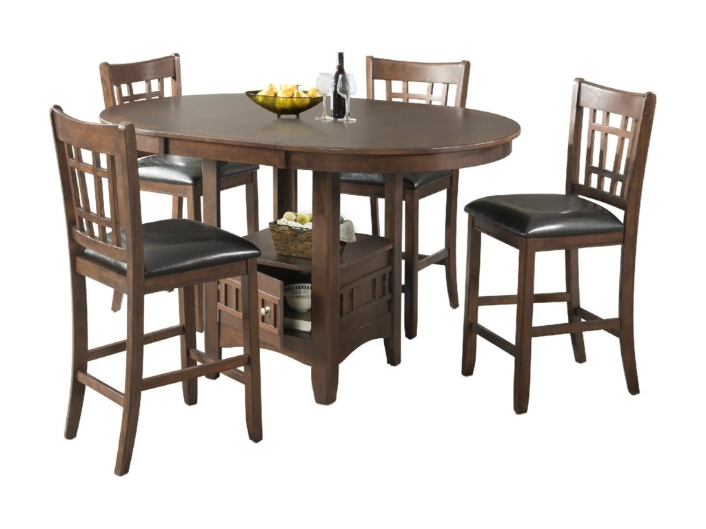Max Casual Counter Height Table Set by Elements International at Household  Furniture