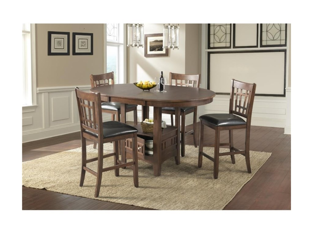 Elements International MaxCounter Height Table Set