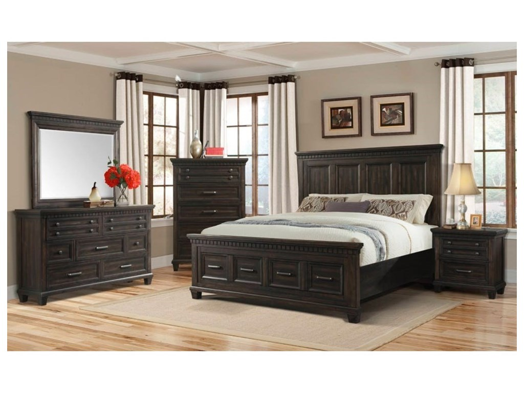 Elements International McCabeQueen Bedroom Group
