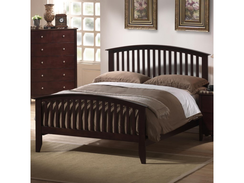 Elements International MetalindoKing Slatted Headboard and Footboard Bed