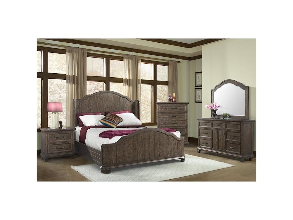 Elements International Mill ValleyQueen Bedroom Group