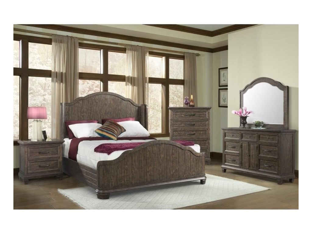 Elements International Mill ValleyWinged King Bed
