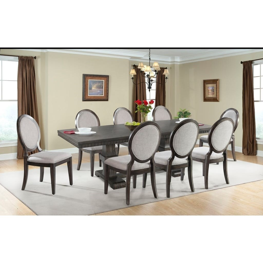 High Quality Elements International Morrison Table And Upholstered Chair Dining Set   John  V Schultz Furniture   Dining 7 (or More) Piece Sets