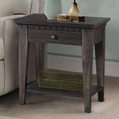 Merveilleux Morrison Transitional Side Table With 1 Drawer By Elements International
