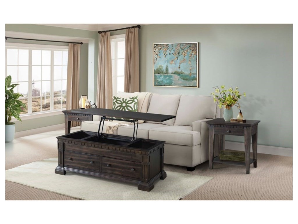 Elements International MorrisonCoffee Table with Lift Top