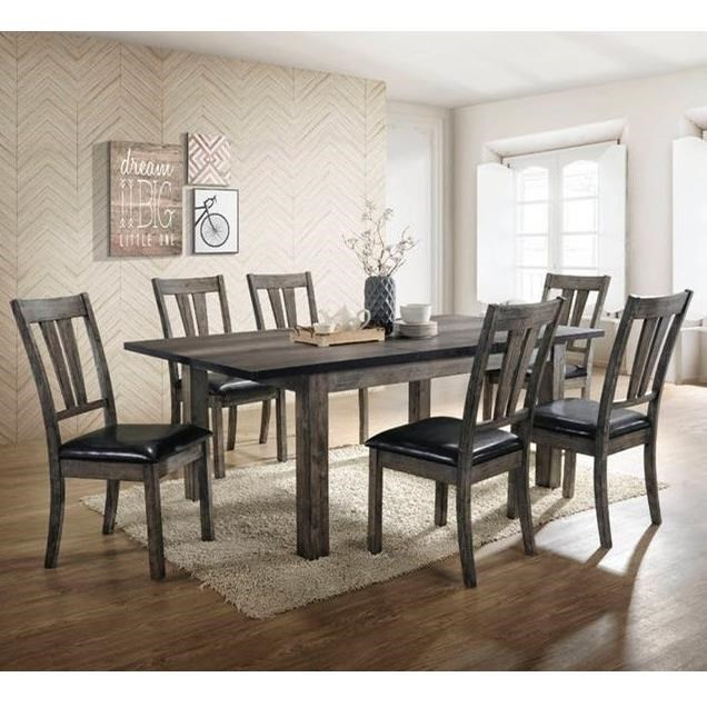Picture of: Elements Nathan Rustic 7 Piece Dining Room Table Set Royal Furniture Dining 7 Or More Piece Sets