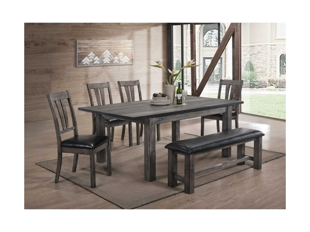 Elements International NathanDining Room Table Set
