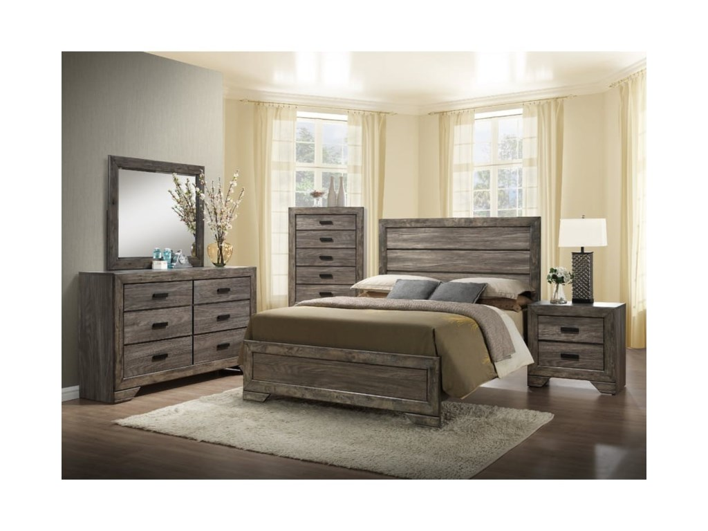Elements International Nathan Queen Bedroom Set Household