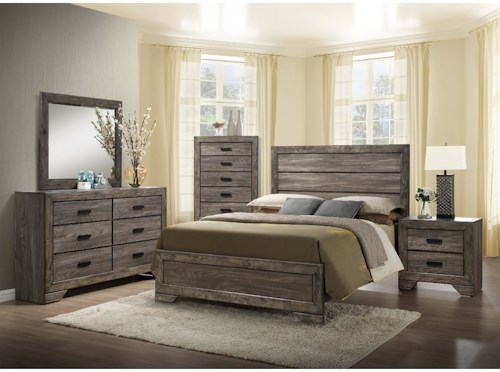 Elements International Nathan Queen Bedroom Set | Powell\'s ...