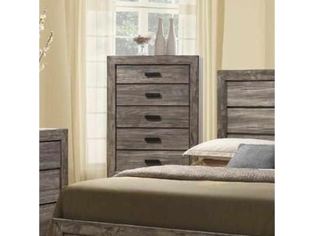 Elements International Nathan Nh100ch Rustic Chest With Five Drawers
