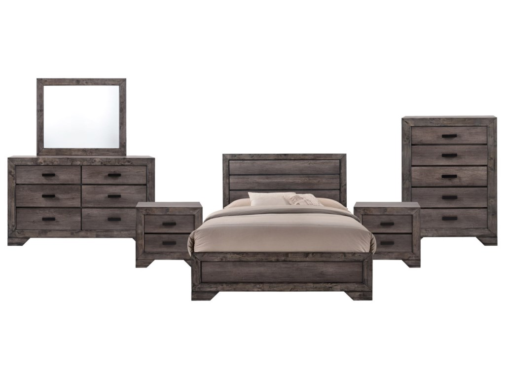 Nathan 6-Piece King Bedroom Set by Elements at Royal Furniture