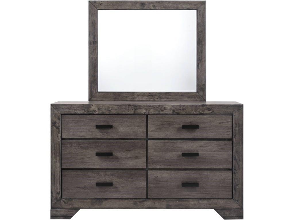 Elements International NathanDresser and Mirror Set