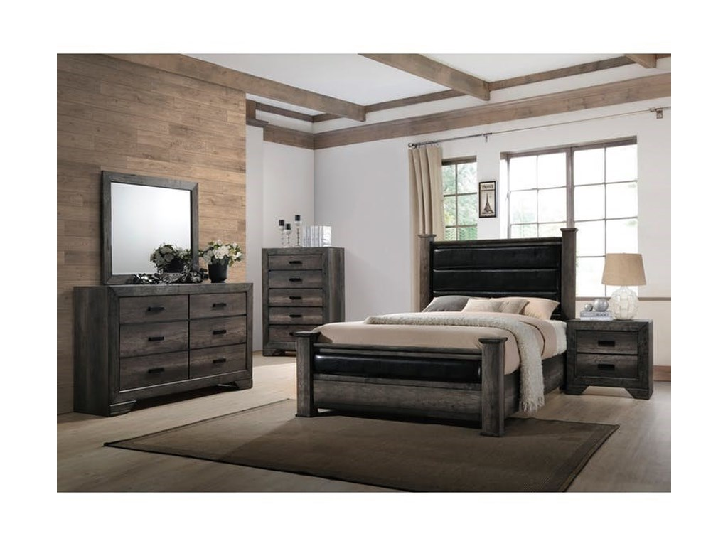Elements International NathanQueen Bedroom Group