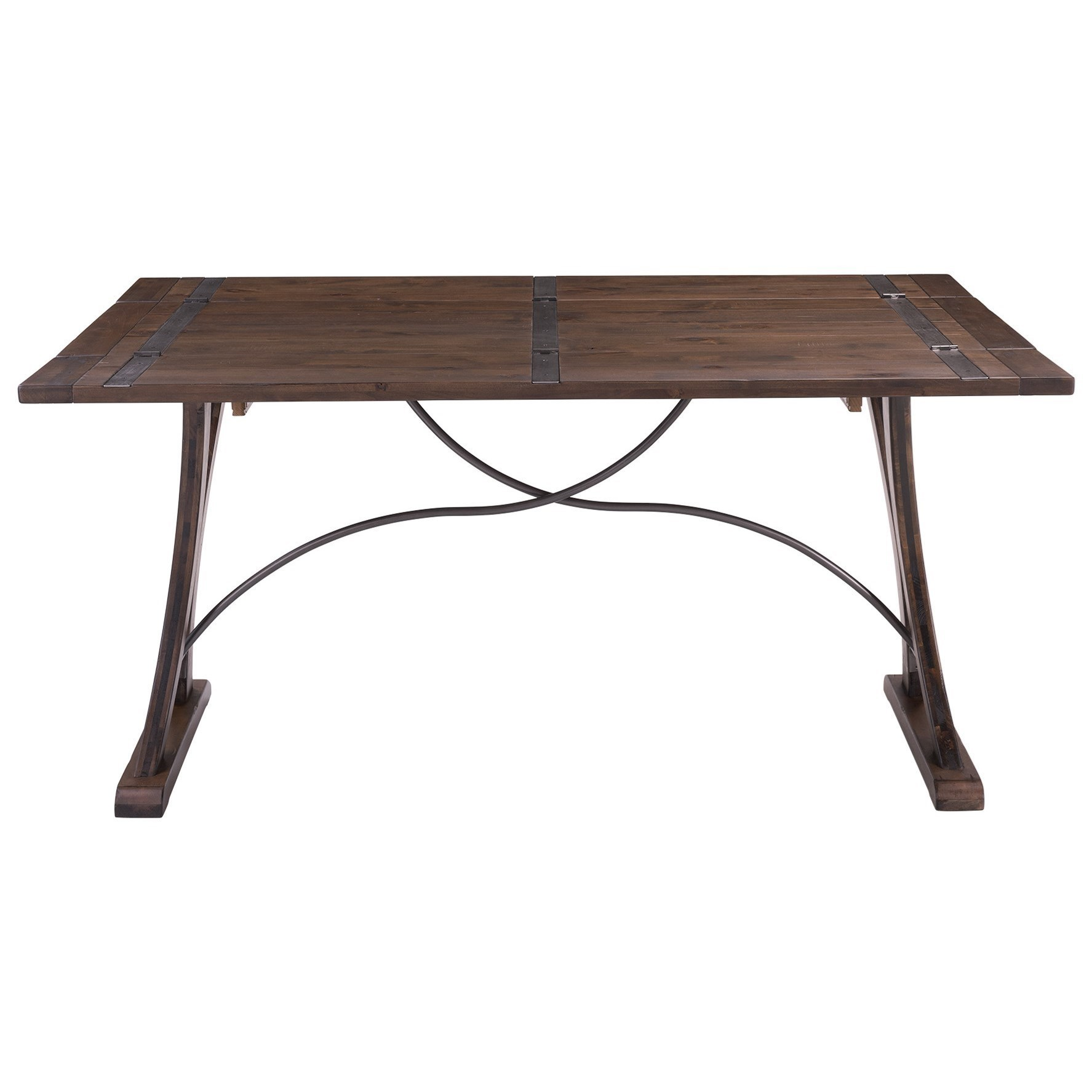 - Elements New Bedford Industrial Folding Top Dining Table Royal Furniture  Dining Tables