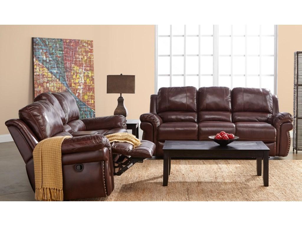 Elements International OliverReclining Living Room Group