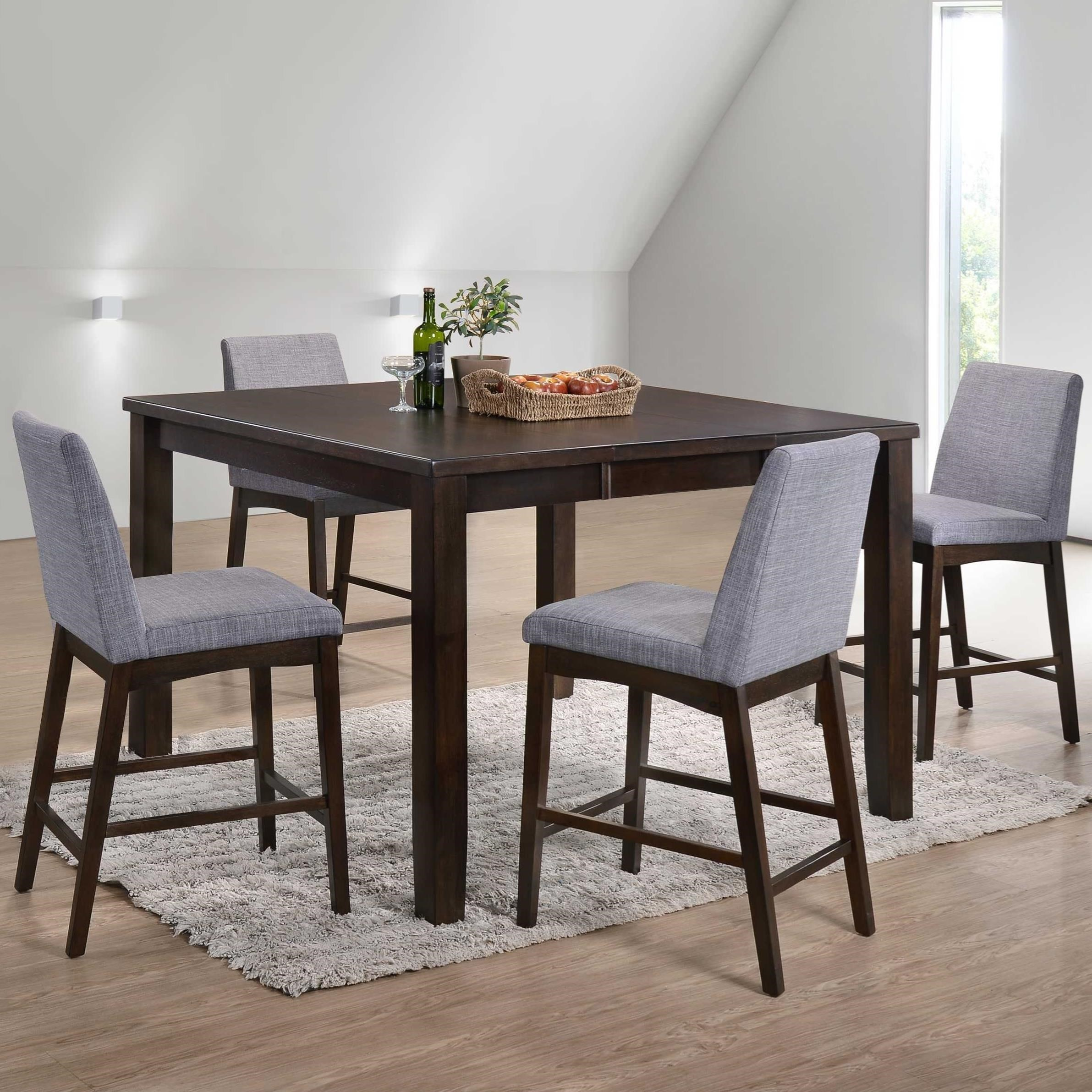Piper Modern Five Piece Counter Height Dining Set By Elements International